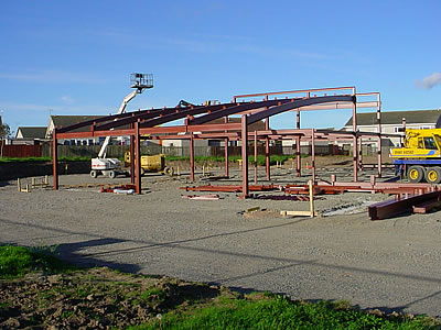 Photograph of construction work in September 2002