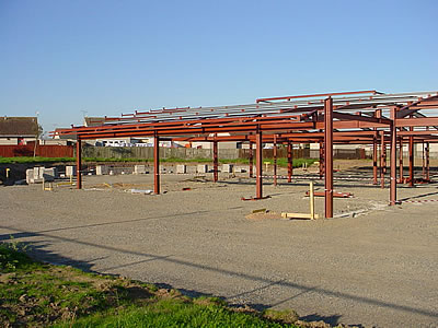Photograph of construction work in November 2002