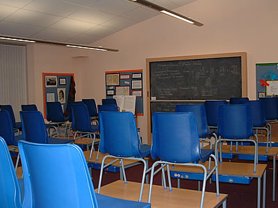 Photograph of a typical classroom