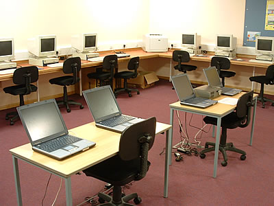 Photograph of the computer suite